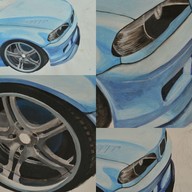 #blue #e46 #painting #bmw #auto #festmény