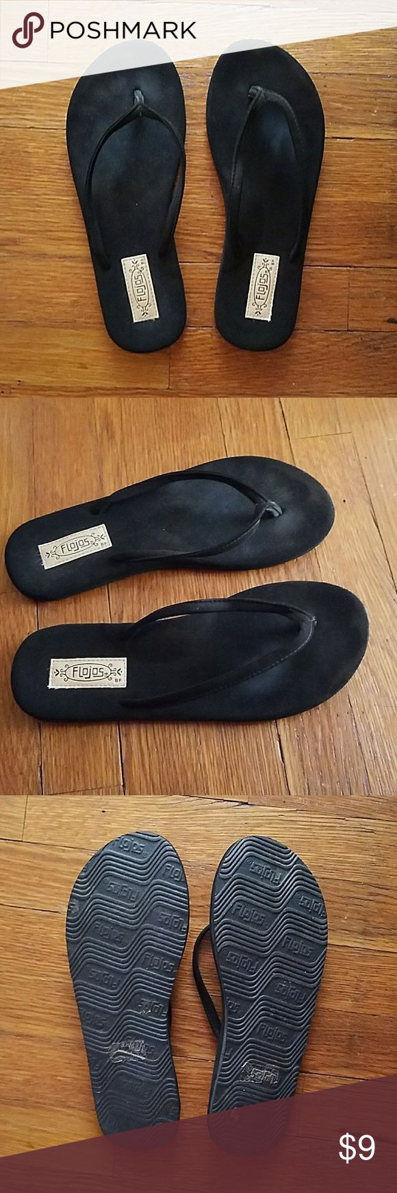 Flojo Black Sandals! Only worn once, black flojo sandals! great condition and is a size 6 women :) 🍂 Tilly's Shoes Sandals