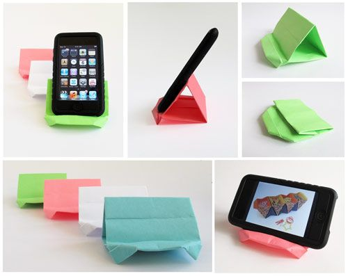 Check out this cool iPhone / Smartphone stand by Francis Ow.  Watch the video, make it, and share it on!!