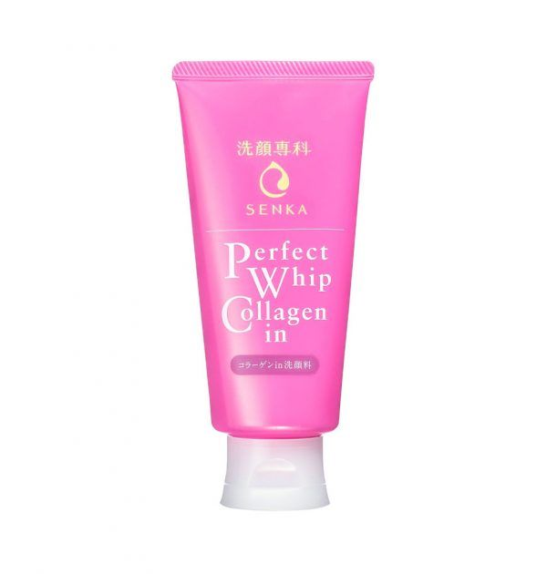 Shiseido Senka Facial Cleansing Foam Perfect Whip Collagen In 120g Made In Japan With Images Face Wash Facial Cleanser Best Japanese Skincare