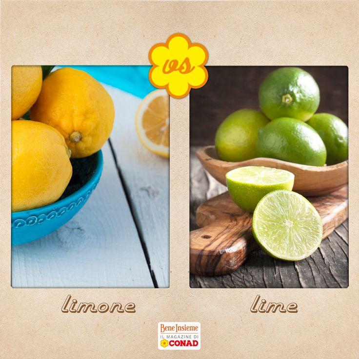 Gusto deciso mediterraneo, o dolceamaro e orientale? #limone e #lime si sfidano per il titolo di frutto dell'estate! Da Conad Bene Insieme