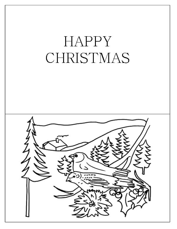 christmas greeting cards coloring pages | 10 best Christmas Cards Coloring Page images on Pinterest ...