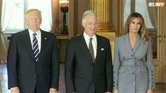 Donald Trump et son épouse rencontrent le roi Philippe et la reine Mathilde