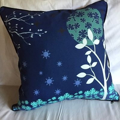 Midnightmoon Tree Cushion by Tan Living