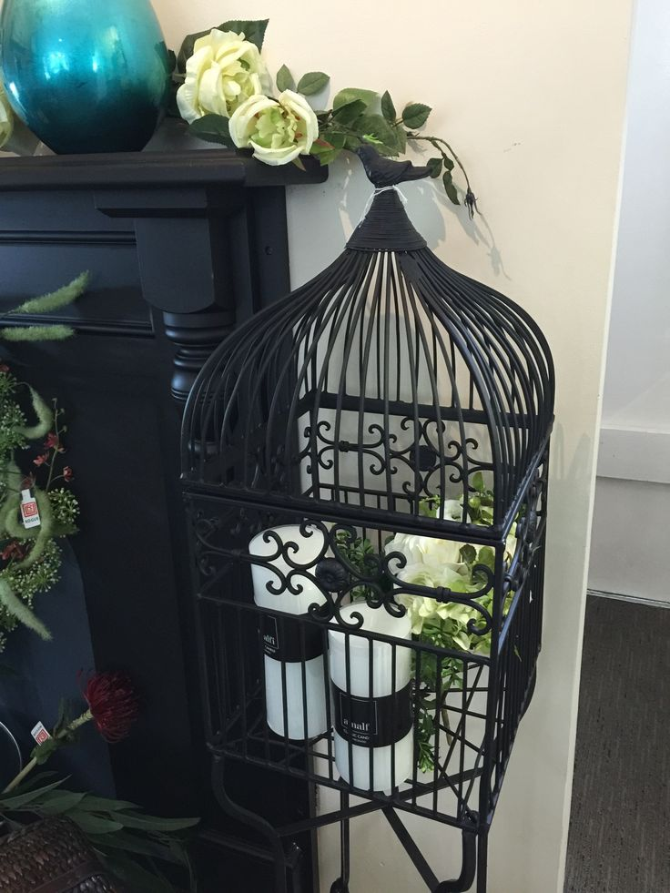 We love this birdcage as a decorative piece in any style of home.