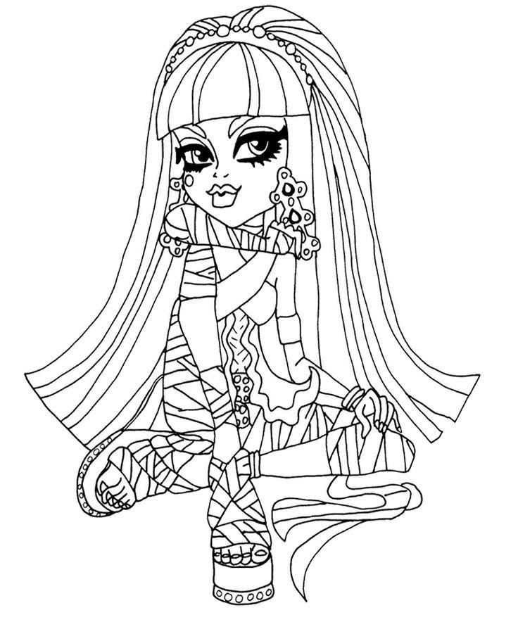 Cute Cleo de Nile Coloring Page