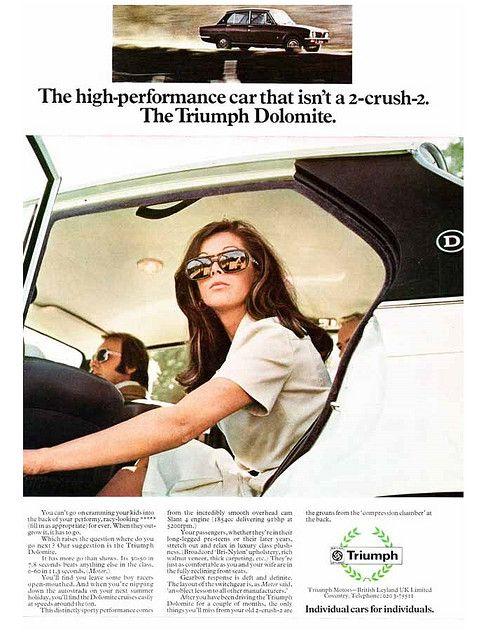 Triumph Dolomite Car Advert