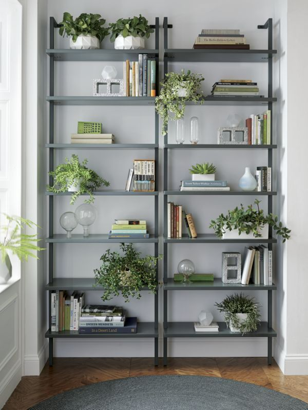 1000 ideas about bookcase with ladder on pinterest large bookcase bookcases and dark wood bookcase avenue greene grey ladder storage office wall