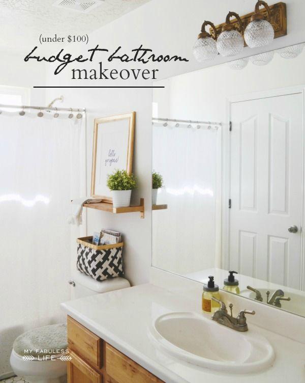 Bathroom Makeover Under 300 top 25+ best budget bathroom makeovers ideas on pinterest | budget