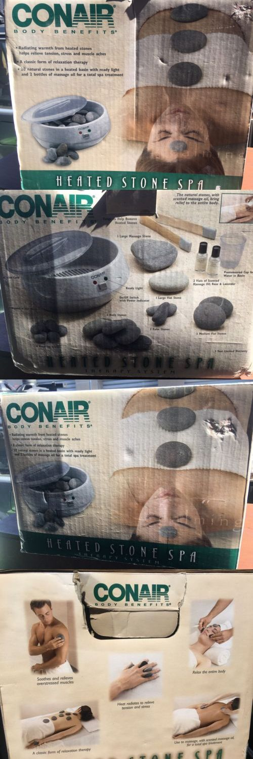 Massage Stones and Rocks: Conair Hr10 Heated Hot Stone Spa Therapy System Hot Rocks Massage BUY IT NOW ONLY: $80.0