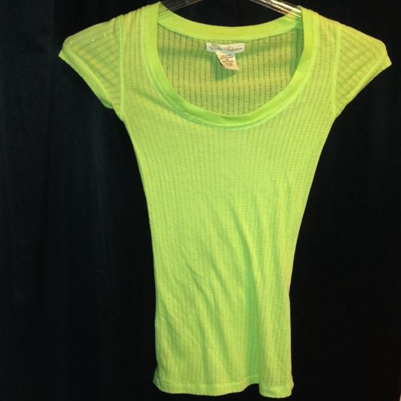 Lime Green Shirt Very cute and comfy shirt!  Still in real good condition.  Make an offer Urban Behavior Tops