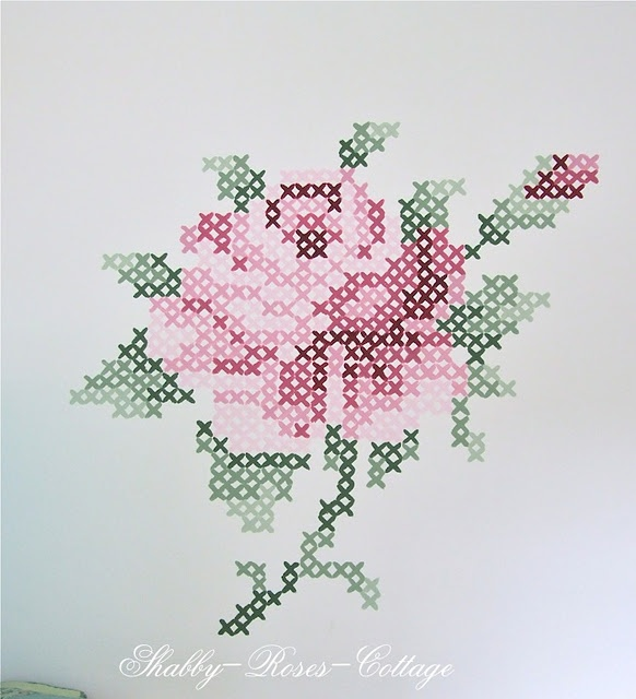Rose embrpdiery
