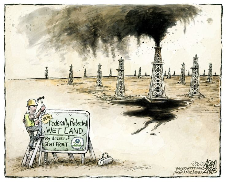 Political Cartoon U.S. Scott Pruitt oil EPA