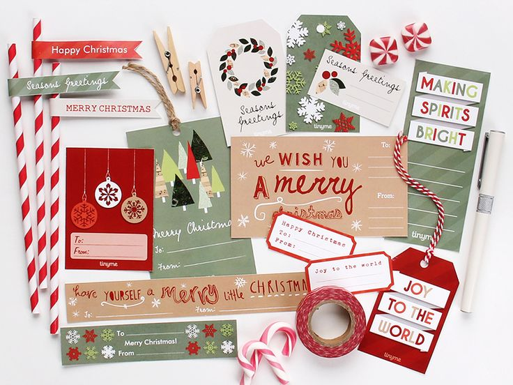 Free Christmas Printables for gift giving