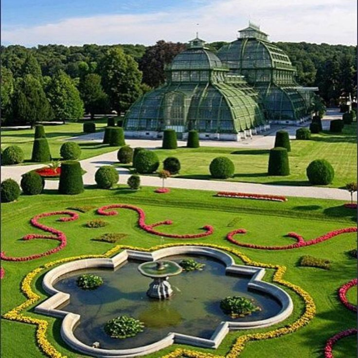 Schonbrunn Park and Botanical Garden in Vienna, Áustria.