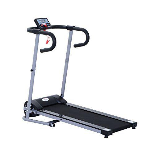 Tapis de course électrique tapis roulant automatique pliable écran LCD équipement de sport fitness 120L x 59l x 113H cm noir gris neuf 57GY…