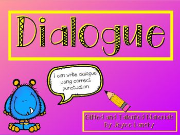 creative writing dialogue punctuation Quotation marks ( ) are the key to writing clear dialogue place them around   this is the order that dialogue punctuation always uses when the tag comes first.