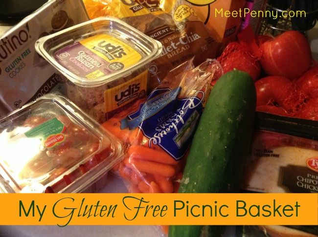 what to pack in a gluten free picnic basket