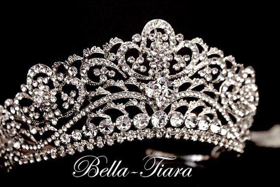 Handmade Bridal Headpiece Rhinestone Crystal Prom Wedding Tiara Headband V845