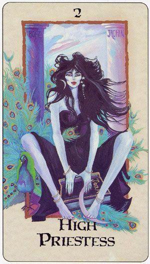 The high priestess таро таро эзотерик