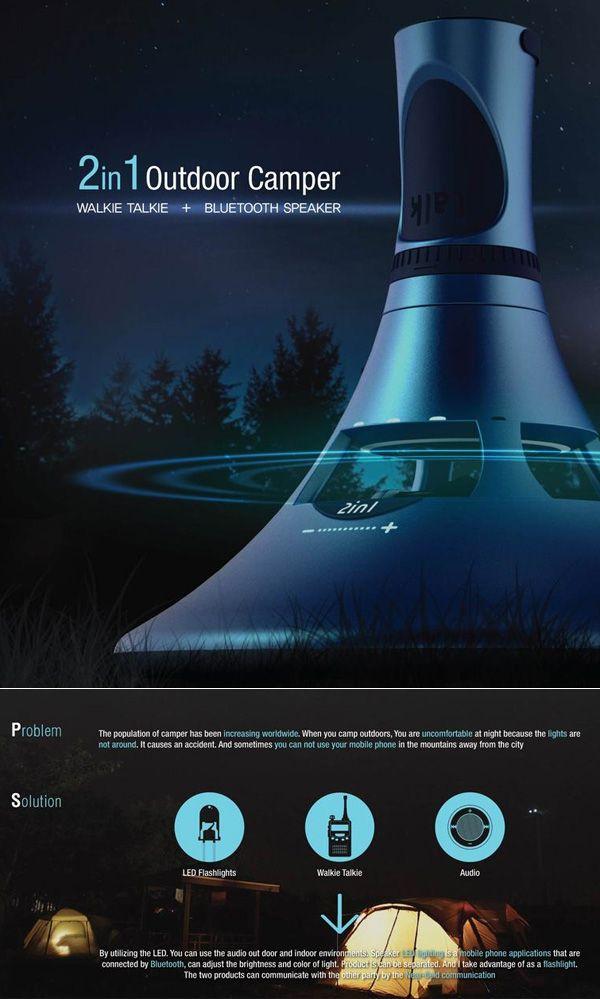 2 In1 Walkie-Talkie Audio – LED Flashlight, Bluetooth Speaker and SOS GPS Locator Device