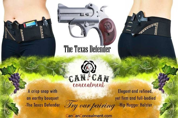 Here's our Can Can recommended Pairing of the week! Texas Defender Guns.Shooting Gun Holster Womens Gun holster concealed carry hoslter
