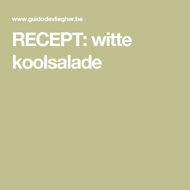 RECEPT: witte koolsalade