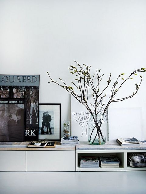 Twigs in a jar. I dig it. Snapshots of Home: Vosgesparis by decor8, via Flickr