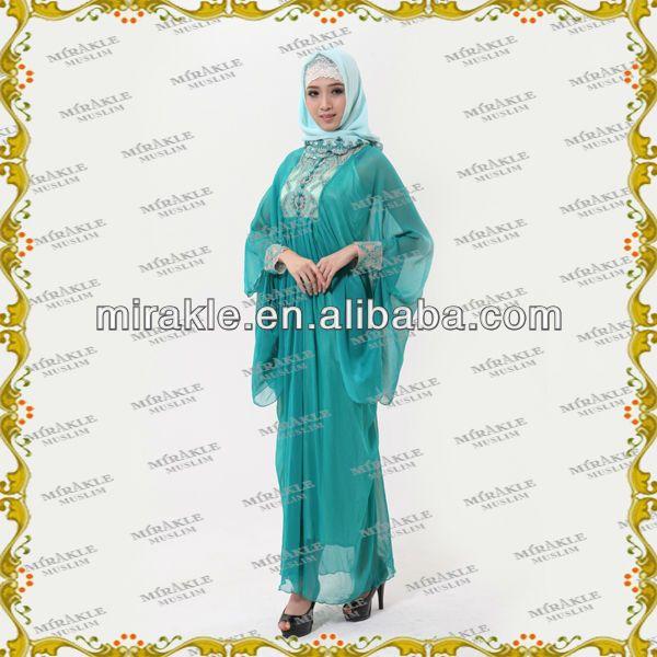 MF17292  Elegant Butterfly style Long Dress Abaya  1.Best quality fabric,  2.Hand work embroideryBeading