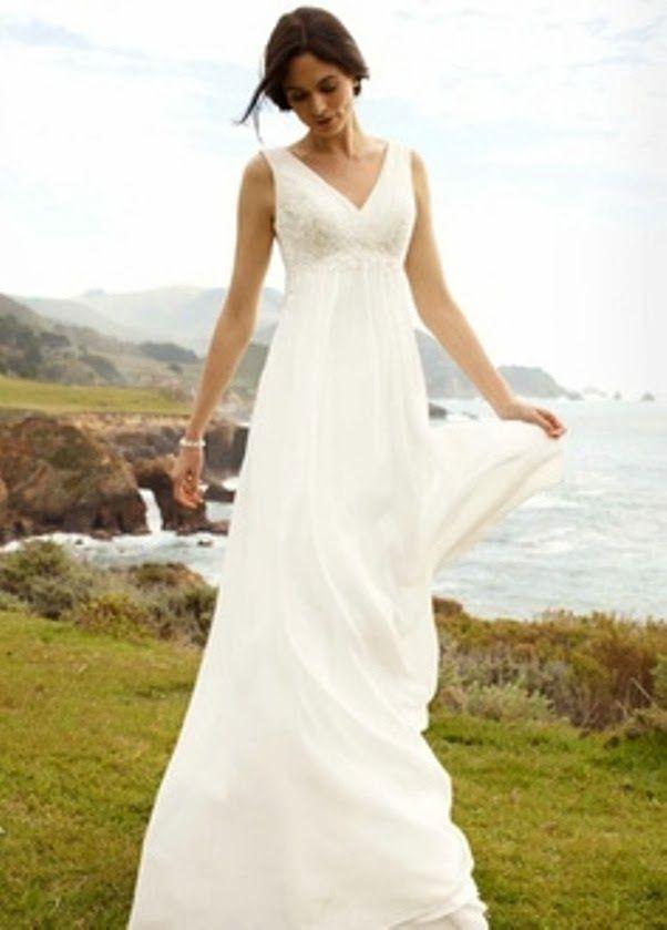 Cotton Casual Short Beach Wedding Dresses