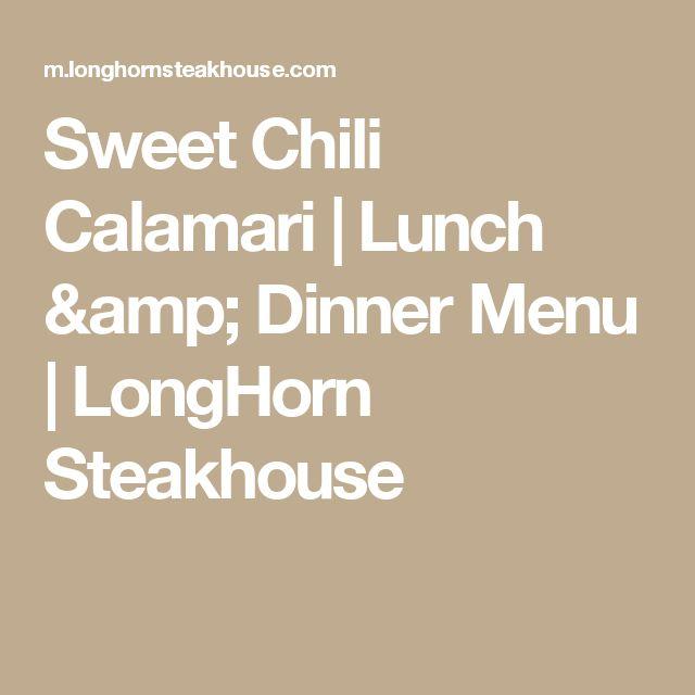 Sweet Chili Calamari | Lunch & Dinner Menu | LongHorn Steakhouse