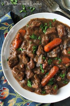 Slow Cooker Beef Burgundy (Low-FODMAP)     Delicious as it Looks