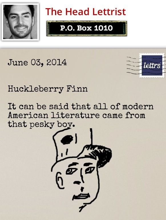 25 best lettrs images on pinterest calligraphy facebook and letter huckleberry finn fandeluxe Choice Image