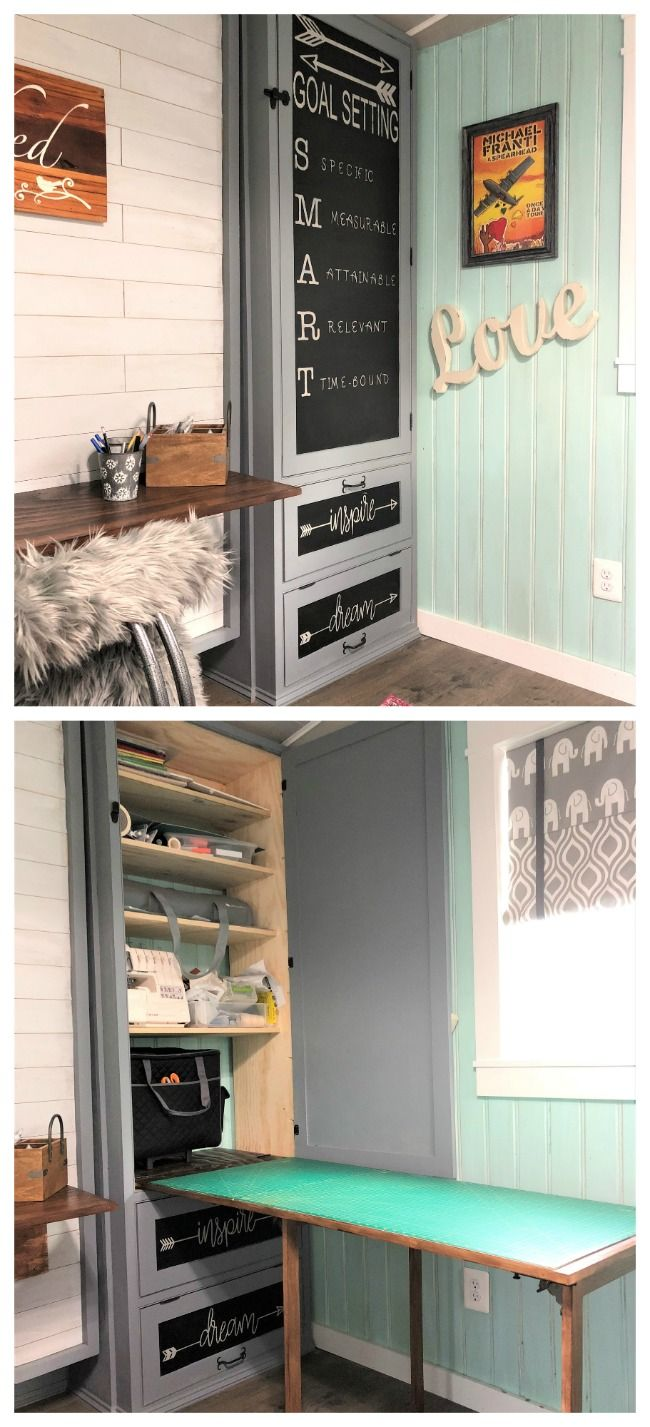 Ana White | She Shed - Guest Room, Craft Room, Office - DIY Projects