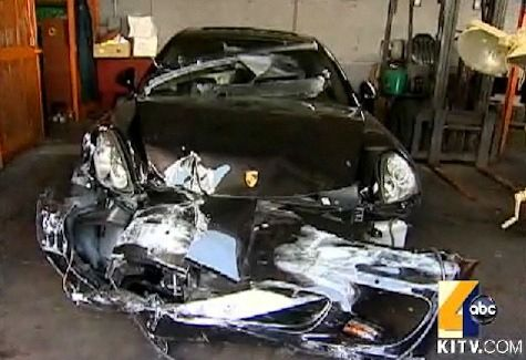 Rapper Car Crash | Rap-Up.com || Kanye West's Car Involved in Accident