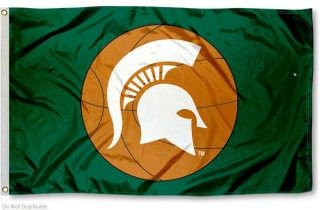 MSU Spartan Basketball Flag