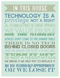 Feeling unsure about how to handle cell phones, tablets, video games, or computer use in your family? This FREE PRINTABLE for the Family Rules of Technology could be a help! You MUST talk to your kids about using all the technology available properly! Taking Control of Technology Before Technology Takes Over Your Family