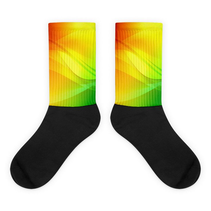 Rasta color Black foot socks