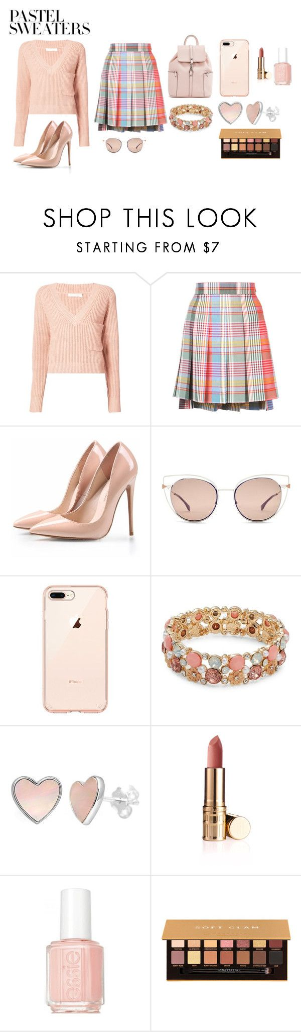 """""""pastel sweaters"""" by shannongarner ❤ liked on Polyvore featuring Chloé, Thom Browne, Fendi, Design Lab, Essie, Anastasia Beverly Hills and pastelsweaters"""