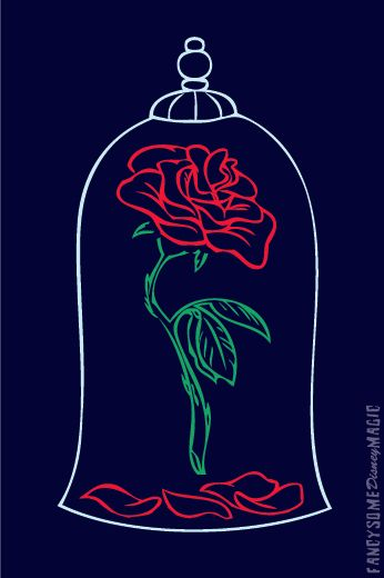 Beauty And The Beast Phone Background Beasts Magic Rose