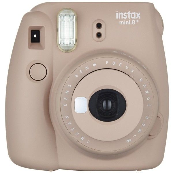 Fujifilm Instax Mini 8+ (Cocoa) Instant Film Camera Self Shot Mirror... (£47) ❤ liked on Polyvore featuring fillers and tech