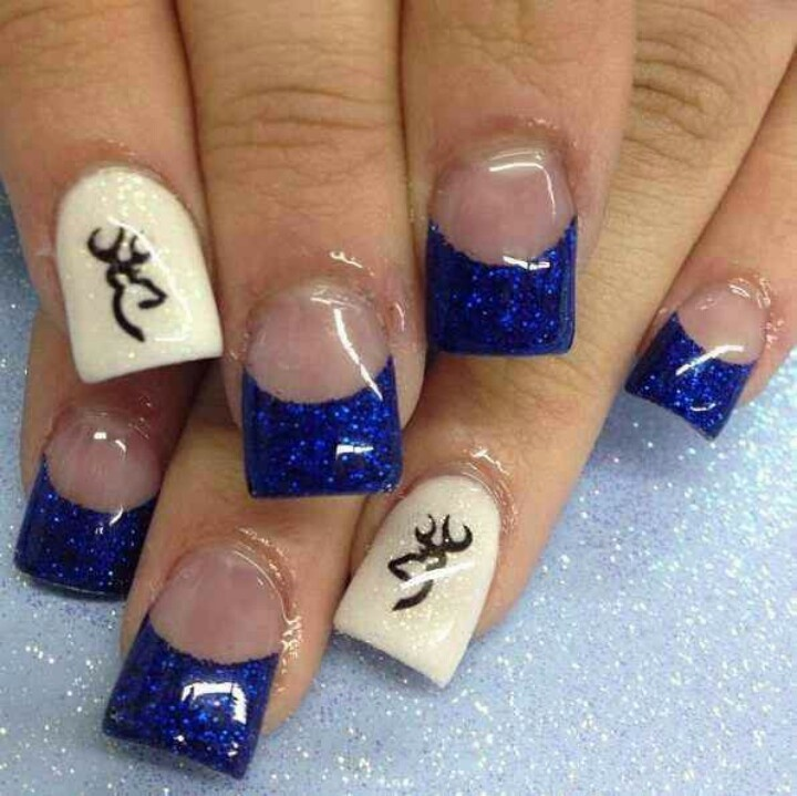Country girl nails - blue and browning designs - 34 Best Country Nail Designs Images On Pinterest Country Nails