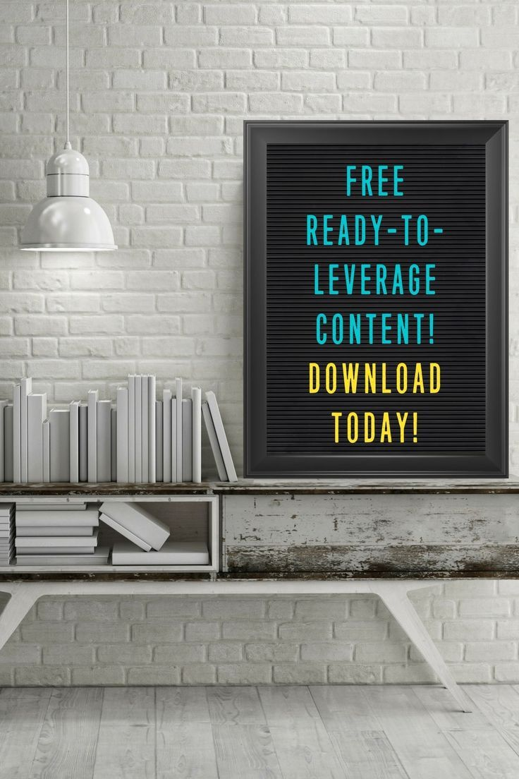 Creating content for your audience shouldn't be hard, stressful or time consuming!  Leveraging ready-to-use content can make the creative process fun again! You'll also be saving yourself time while still providing your audience with quality content!    Get instant access to my list of free ready-to-leverage content that you can download today!  Use this free content to:  * Jump start your blog posts * Create social media shares * Quickly send engaging emails   content marketing   blogging…