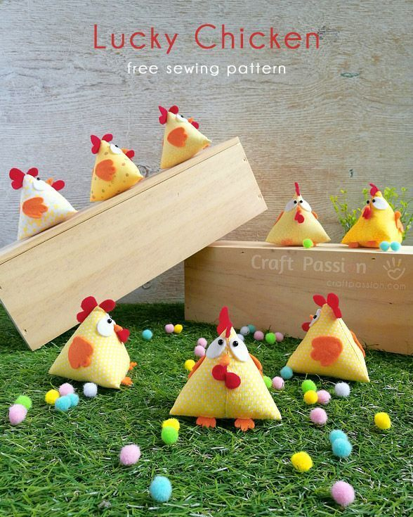 Lucky chicken tutorial and free pattern. Cuteness!!