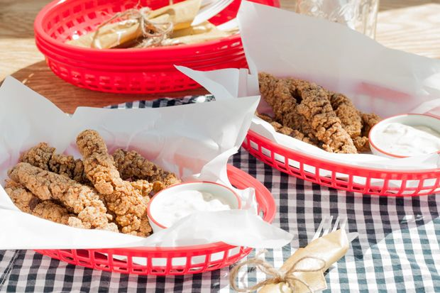 Country Fried Steak Fingers with Cashew Cream Gravy