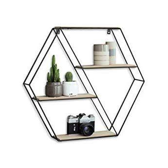 Mensole Da Muro Design.Lifa Living Mensola Da Muro Esagonale Mensole Da Muro Design