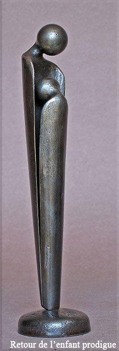 """""""Retour de l'enfant prodigue"""" by Jean-Pierre Augier, Sculptor."""