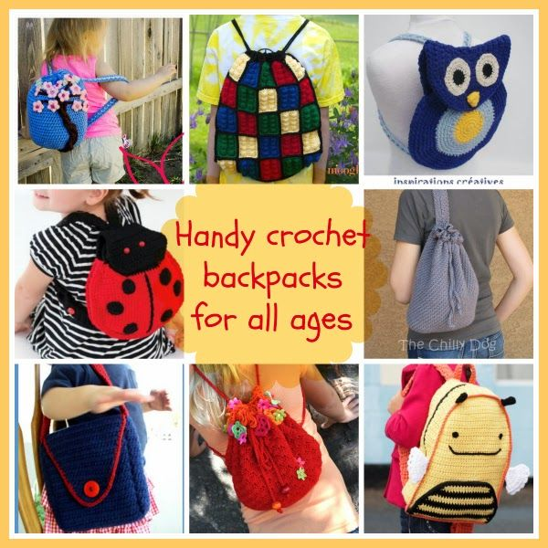 Handy crochet backpacks for all ages #freecrochetpattern #backpack