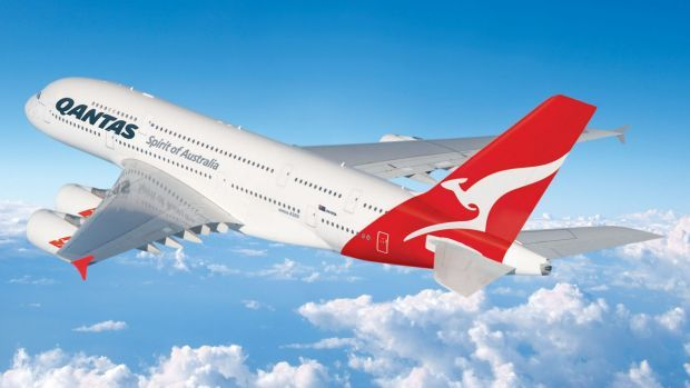 A Qantas A380 aircraft similar to the one that was delayed in Dubai.