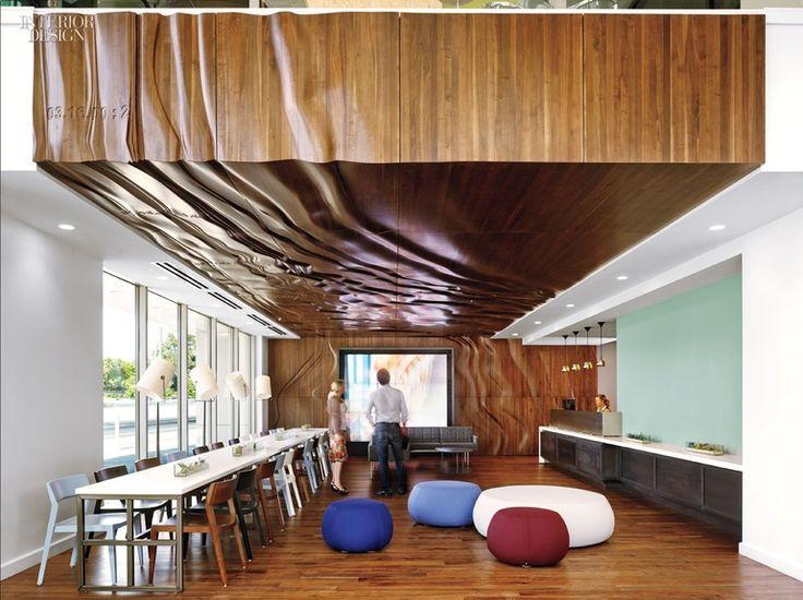 Cool textured wood surface - Survey Monkey Office - Tim Murphy Design Associates